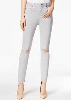 Calvin Klein Jeans Ripped Colored Wash Ankle Jeans