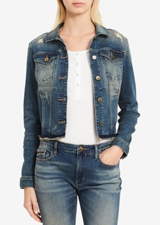 Calvin Klein Jeans Ripped Denim Trucker Jacket