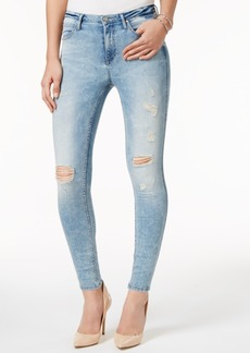 Calvin Klein Jeans Ripped Nebula Blue Wash Skinny Jeans