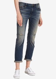 Calvin Klein Jeans Ripped Slim-Fit Boyfriend Jeans