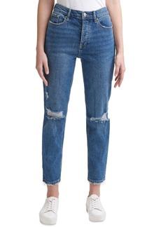 Calvin Klein Jeans Ripped Straight-Leg Jeans