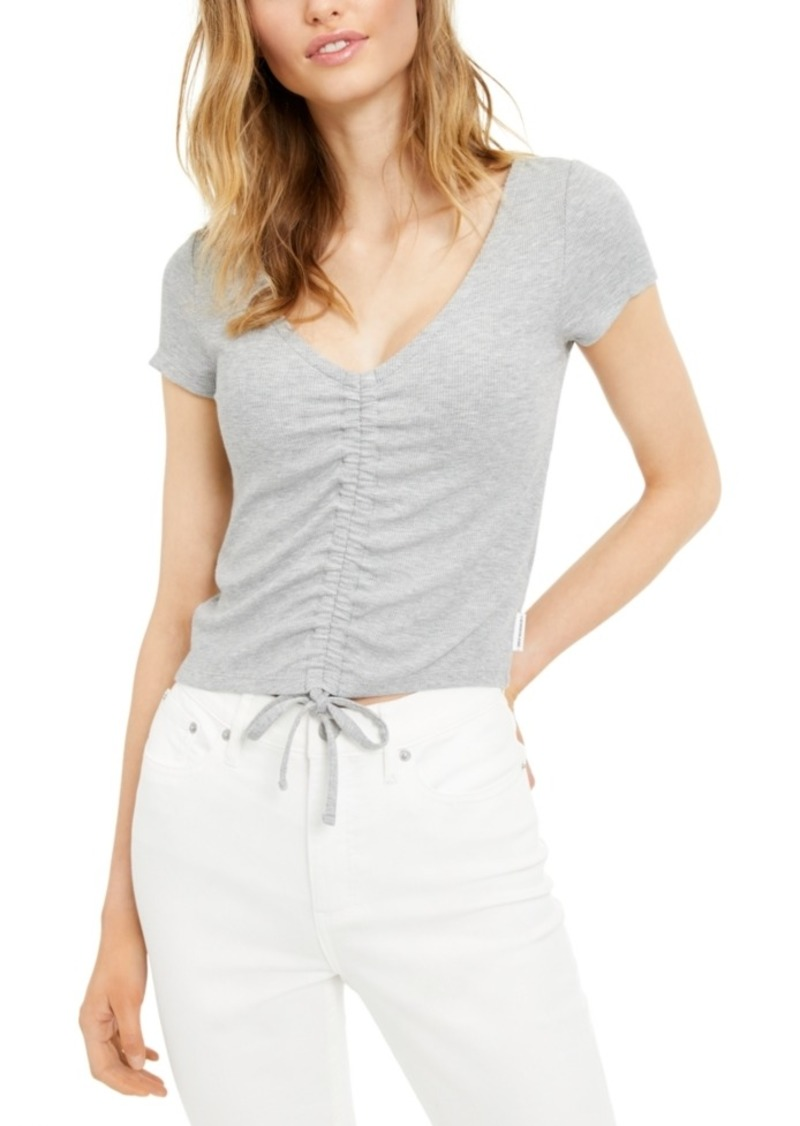 Calvin Klein Jeans Ruched Scoop-Neck Top