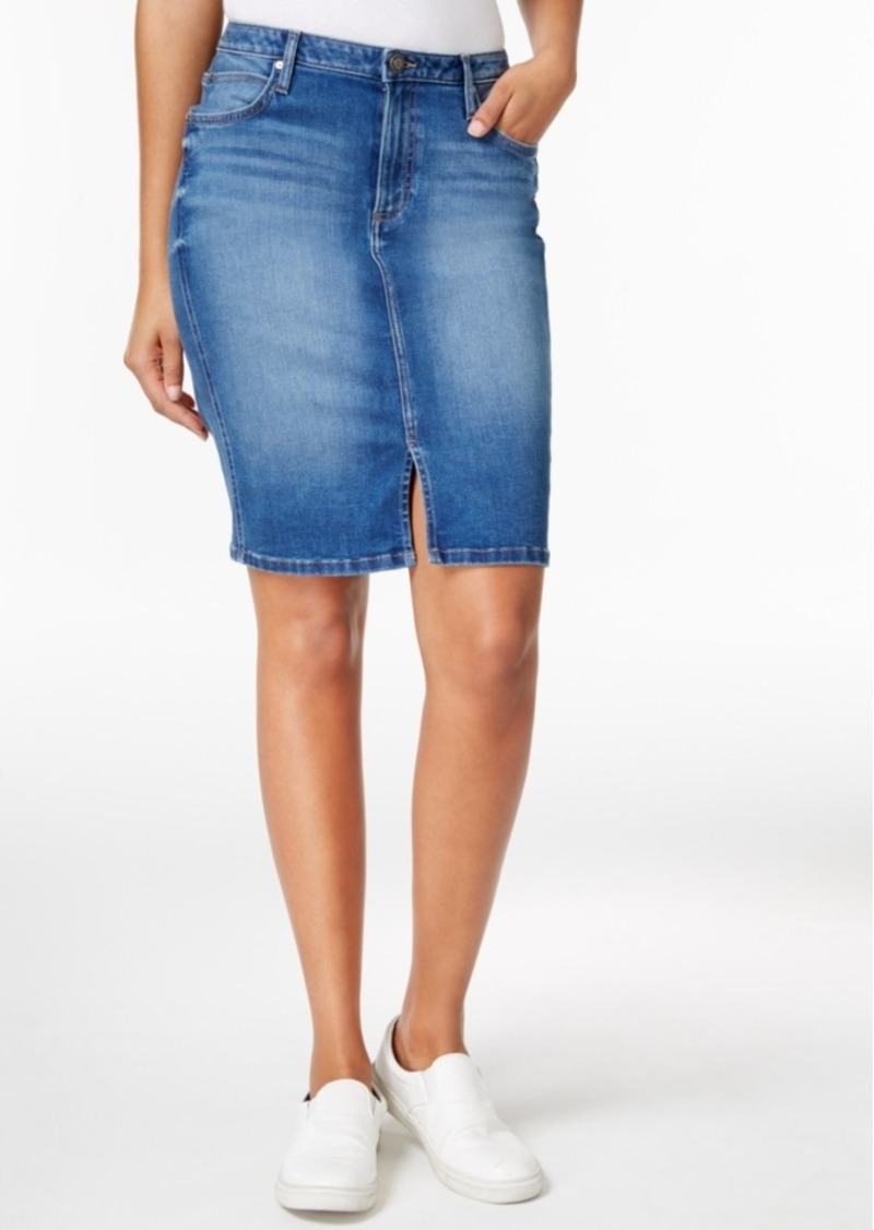 77271c3d33 Calvin Klein Calvin Klein Jeans Sculpted Denim Pencil Skirt | Skirts
