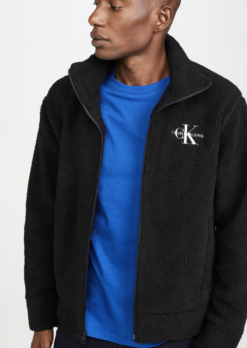 Calvin Klein Jeans Sherpa Quarter Zip Popover Hoodie