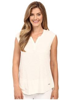 Calvin Klein Jeans Short Sleeve Solid Henley