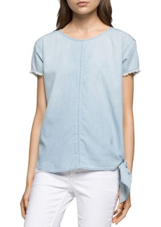 Calvin Klein Jeans Side-Tie Denim Top