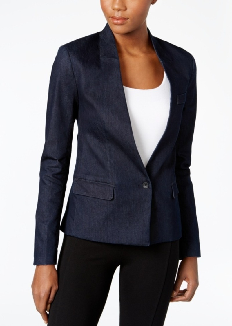 Calvin Klein Jeans Single-Button Denim Blazer