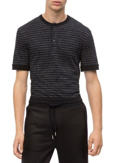 Calvin Klein Jeans Slim-Fit Striped Henley T-Shirt