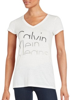 Calvin Klein Jeans Solid Logo Printed Tee