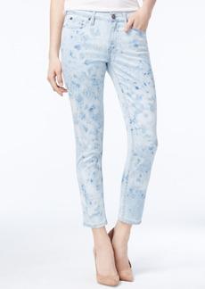 Calvin Klein Jeans Splatter Print Skinny Ankle Jeans