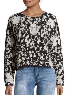 Calvin Klein Jeans Spot Bleached Cotton-Blend Top