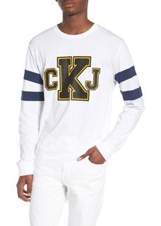 Calvin Klein Jeans Stripe Sleeve Logo T-Shirt