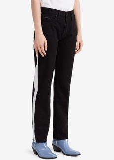 Calvin Klein Jeans Striped Black Straight Jeans