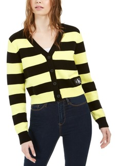Calvin Klein Jeans Striped Button-Front Cotton Cardigan
