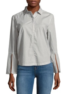 Calvin Klein Jeans Striped Cotton Casual Button-Down Shirt
