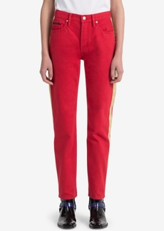 Calvin Klein Jeans Striped Red Straight Jeans