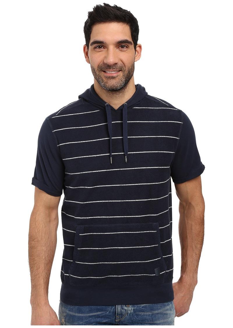 Calvin Klein Jeans Striped Short Sleeve Terry Hoodie
