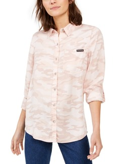 Calvin Klein Jeans Tencel Camo Button-Down Shirt