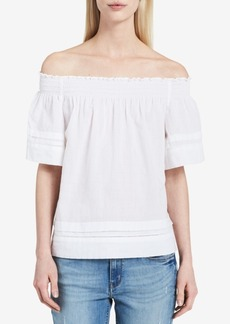 Calvin Klein Jeans Textured Off-The-Shoulder Top