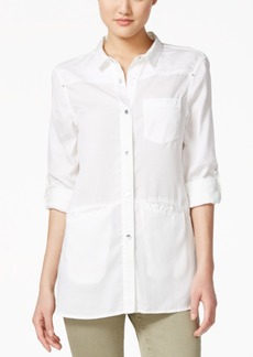 Calvin Klein Jeans Three-Quarter-Sleeve Button-Front Shirt