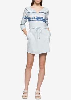 Calvin Klein Jeans Tie-Dyed Shirtdress