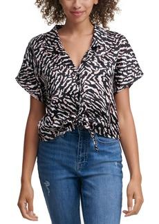 Calvin Klein Jeans Tie-Front Dolman Sleeve Top