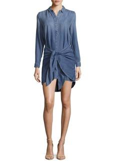 Calvin Klein Jeans Tie-Front Solid Shirtdress