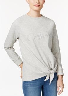 Calvin Klein Jeans Tie-Side Logo Sweatshirt