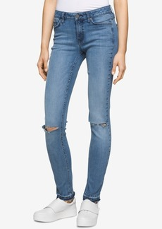 Calvin Klein Jeans Ultimate Ripped Faded Blue Berry Wash Skinny Jeans