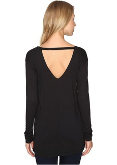 Calvin Klein Jeans V-Back Solid Long Sleeve Shirt