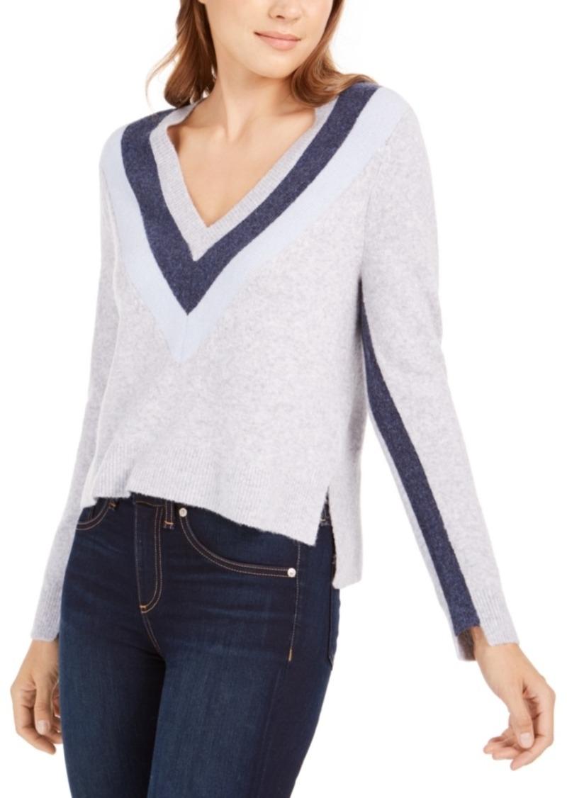 Calvin Klein Jeans V-Neck Chevron Sweater