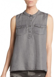 Calvin Klein Jeans Washed Button-Front Top