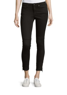 Calvin Klein Jeans Wax Washed Moto Black Jeans