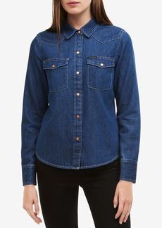 Calvin Klein Jeans Western Cotton Denim Shirt