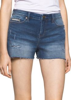 Calvin Klein Jeans Whiskered Denim Shorts