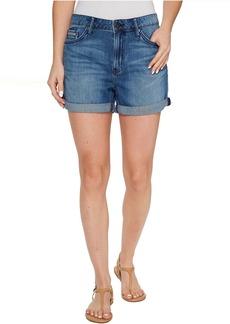 Calvin Klein Whisper Weight Boyfriend Shorts in Blue Lagoon