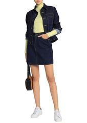 Calvin Klein Jeans Woman Denim Mini Skirt Dark Denim