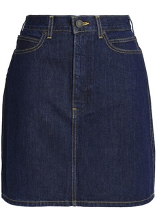Calvin Klein Jeans Woman Denim Mini Skirt Dark Denim