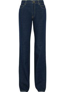 Calvin Klein Jeans Woman Mid-rise Straight-leg Jeans Dark Denim