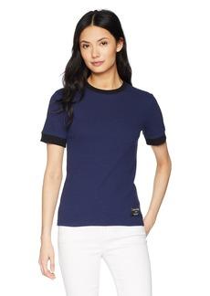 Calvin Klein Jeans Women's 3/4 Sleeve Skater Rib T-Shirt  L