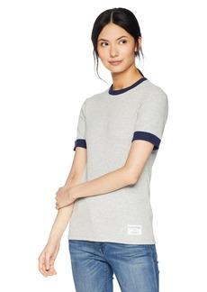Calvin Klein Jeans Women's 3/4 Sleeve Skater Rib T-Shirt  M