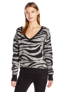 Calvin Klein Jeans Women's Animal Print Jacquard Sweater  MEDIUM