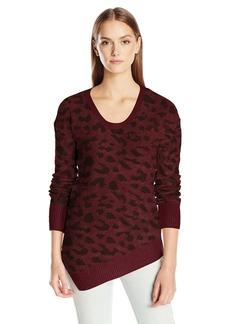 Calvin Klein Jeans Women's Assymetrical Hem Animal Print Sweater