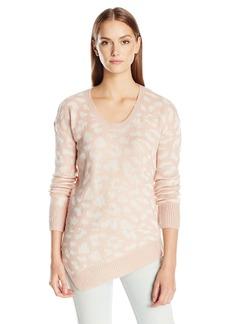 Calvin Klein Jeans Women's Assymetrical Hem Animal Print Sweater  LARGE