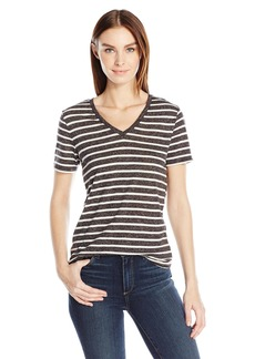 Calvin Klein Jeans Women's Black and White T-Shirt