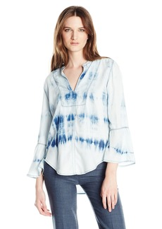 Calvin Klein Jeans Women's Boho Blouse Sky Graphic Wash Skye Graphic WA SMALL