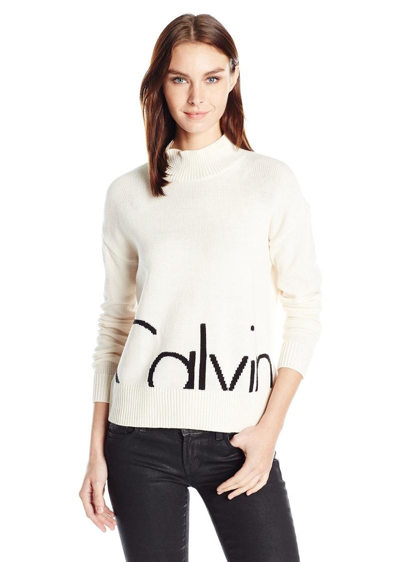 Sleeveless Mock Turtleneck Sweater