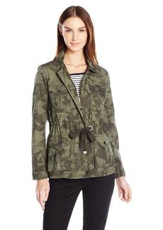 Calvin Klein Jeans Women's Camo Utility Field Jacket  SMALL