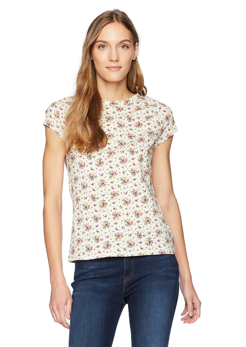 Calvin Klein Jeans Women's Cap Sleeve T-Shirt Floral Printed  S