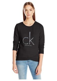 Calvin Klein Jeans Women's Caviar Ck Logo Sweatshirt  MEDIUM